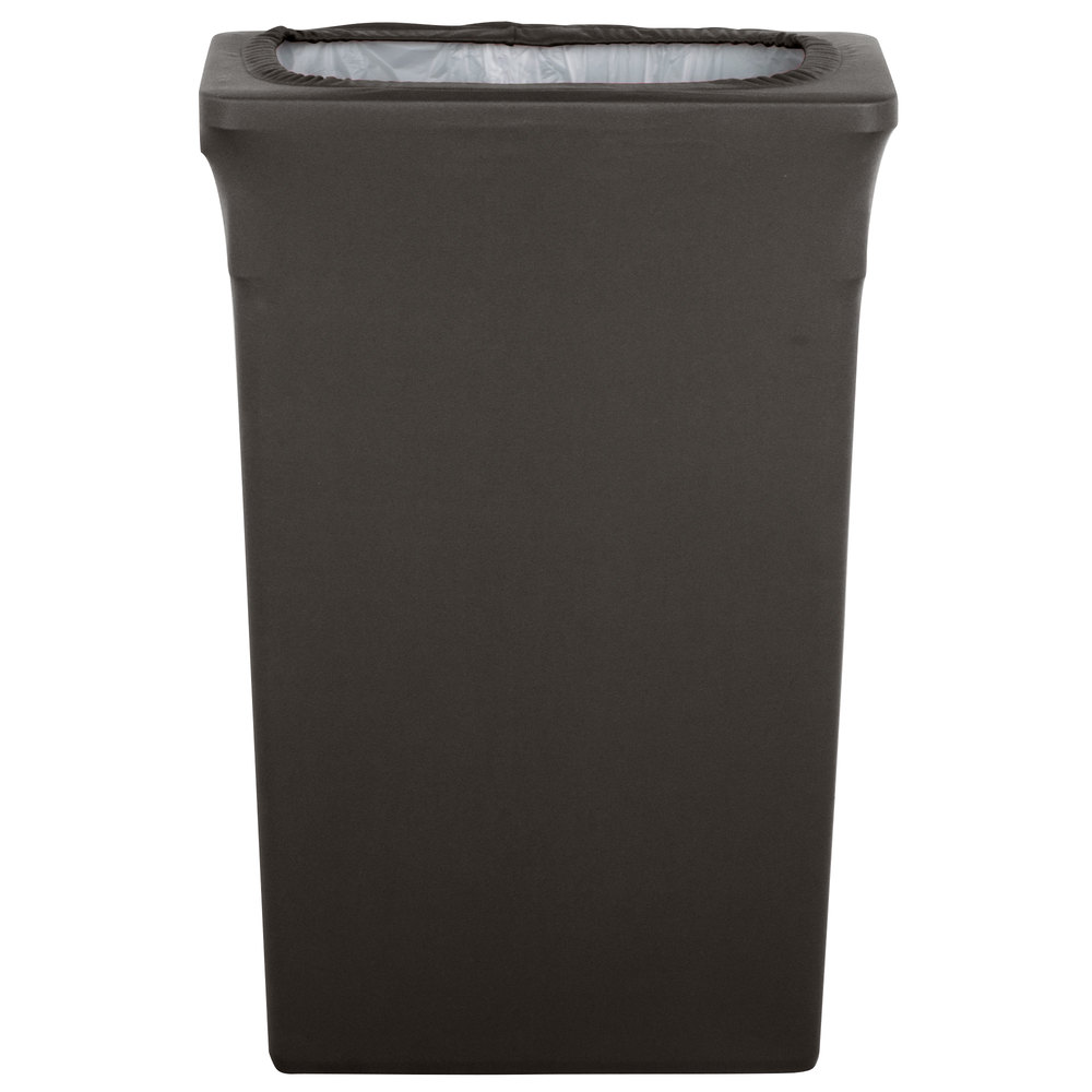 Marko emb5026tlc23512 embrace trimline 23 gallon charcoal spandex narrow profile waste container - Covered wastebasket ...