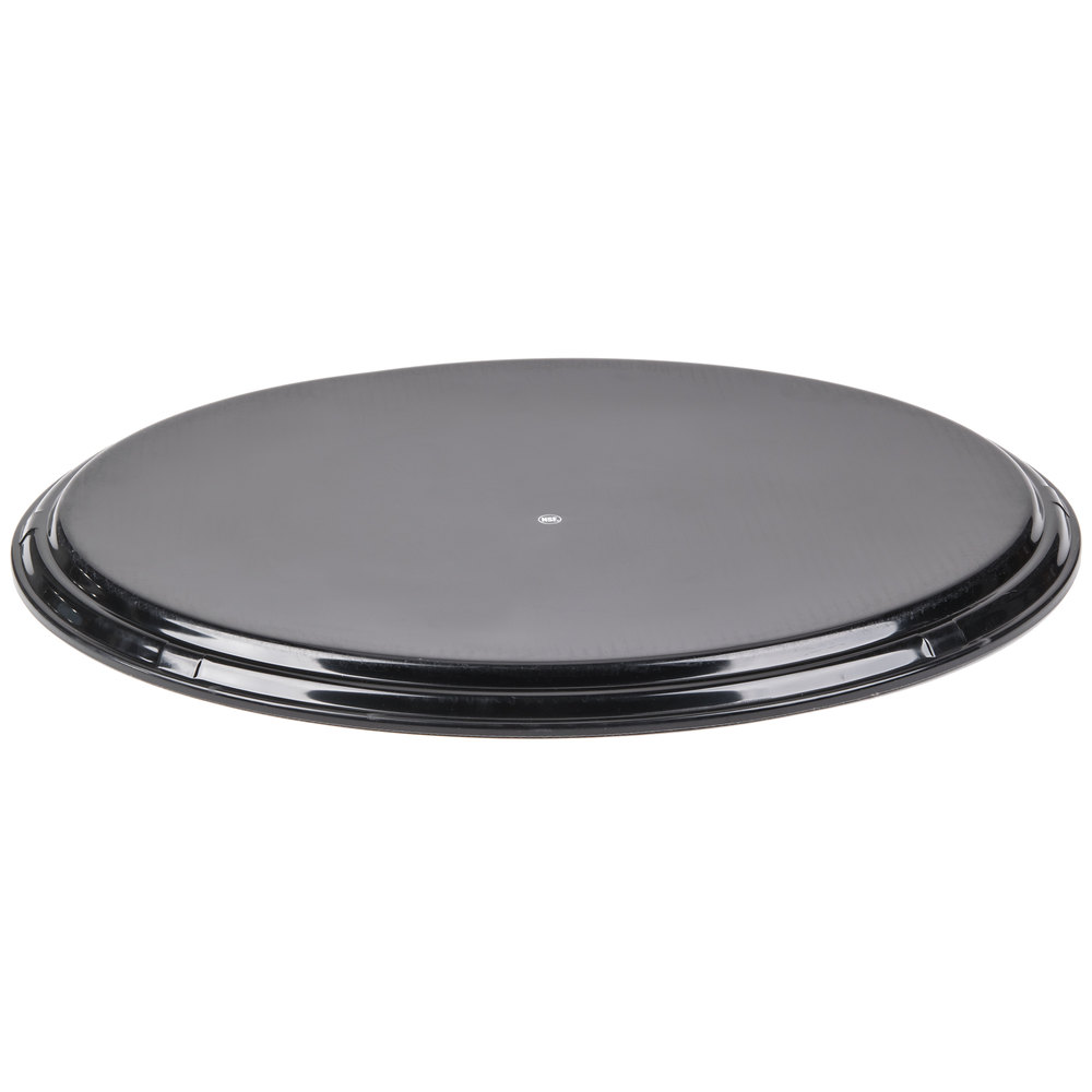 oval 27 black non skid serving tray
