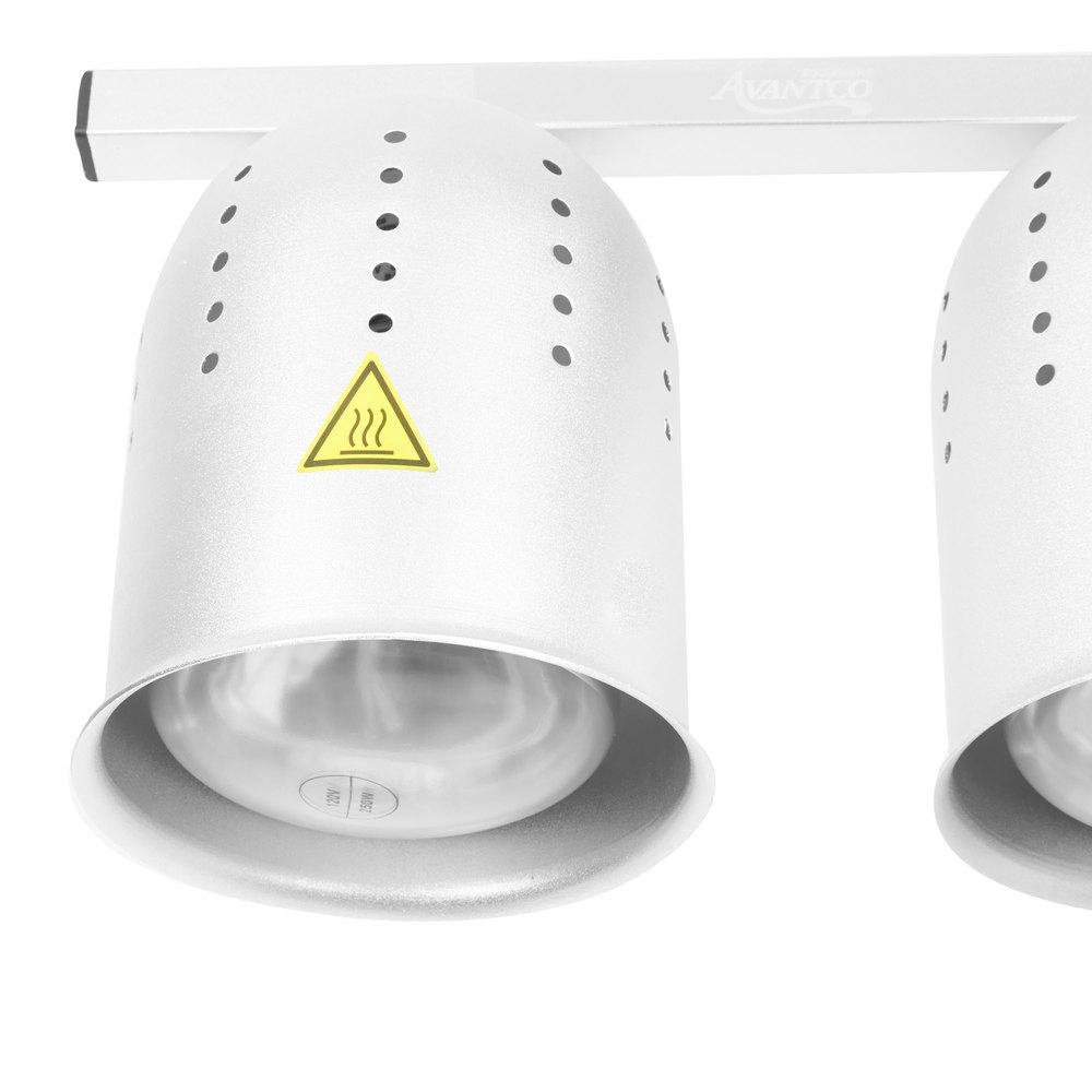 Avantco W62 Heat Lamp Food Warmer 2 Bulb Free Standing