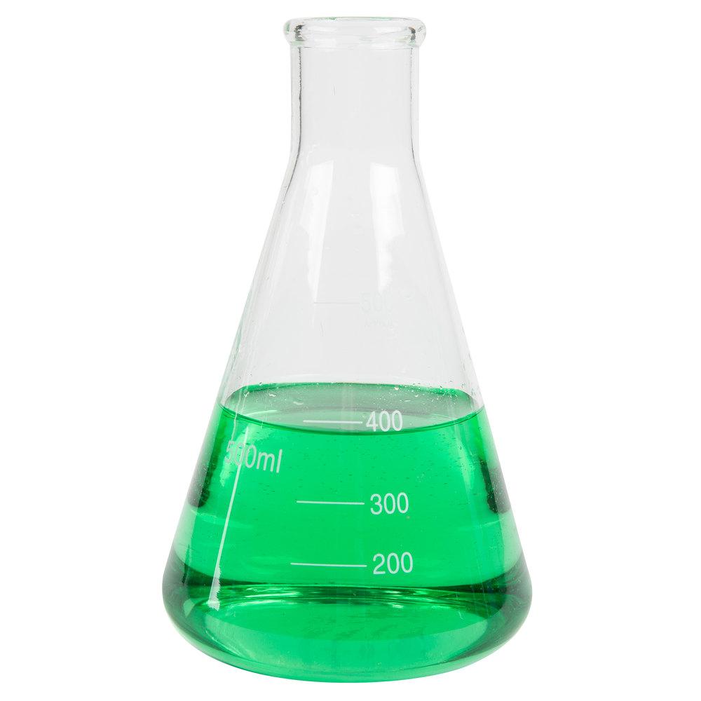 Libbey 56809 Chemistry Bar 17 oz. (500 mL) Erlenmeyer ...
