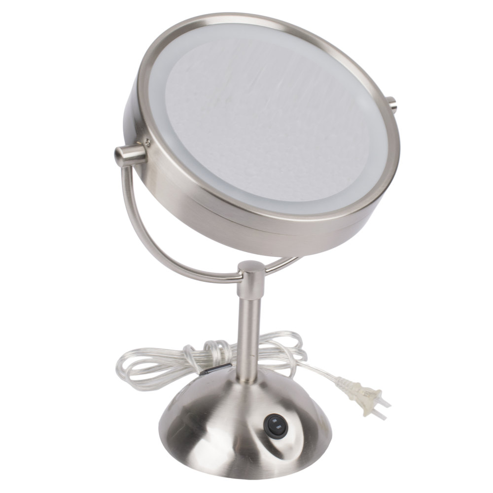Conair be119wh 8 12 satin nickel freestanding led lighted vanity lighted vanity mirror with on main picture image preview image preview mozeypictures Gallery