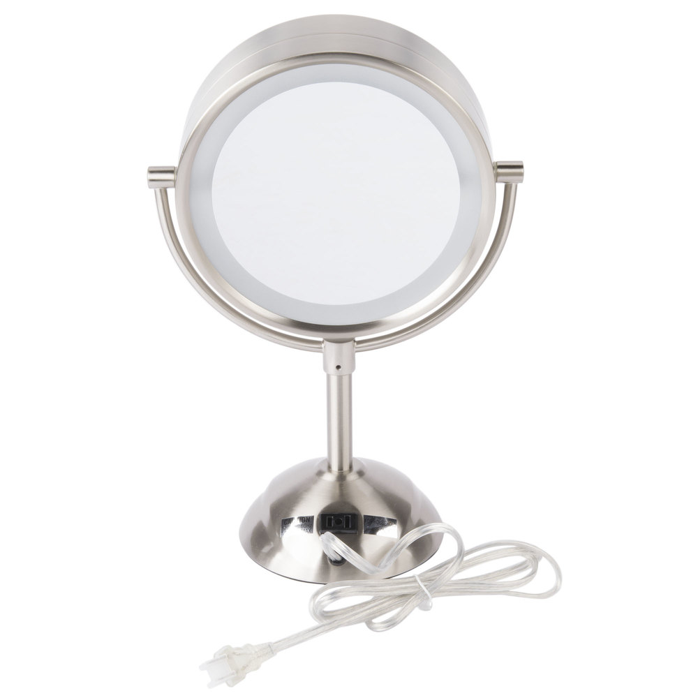 Image Preview. Conair BE103WH 8 1 2  Satin Nickel Freestanding LED Lighted Vanity