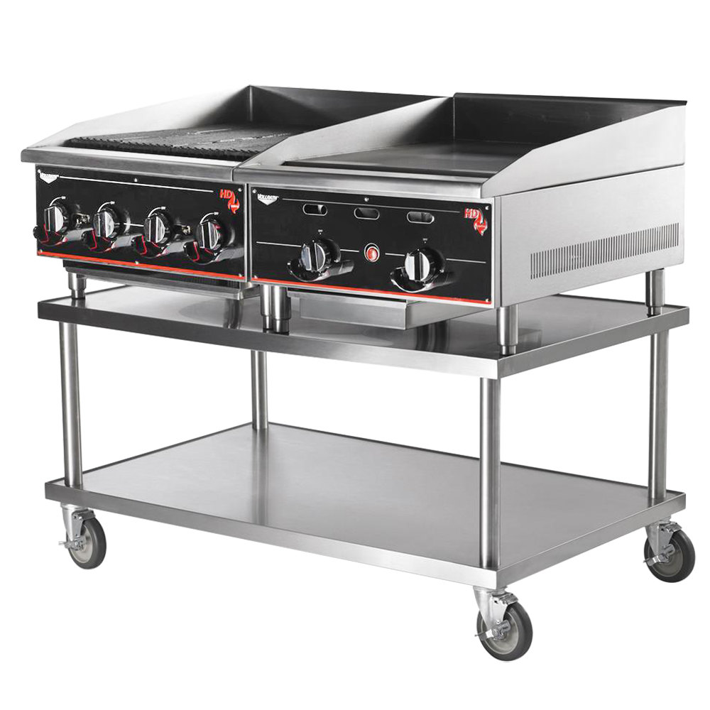 Mobile Kitchen Equipment Vollrath 4087924 24 X 30 Stainless Steel Heavy Duty Mobile
