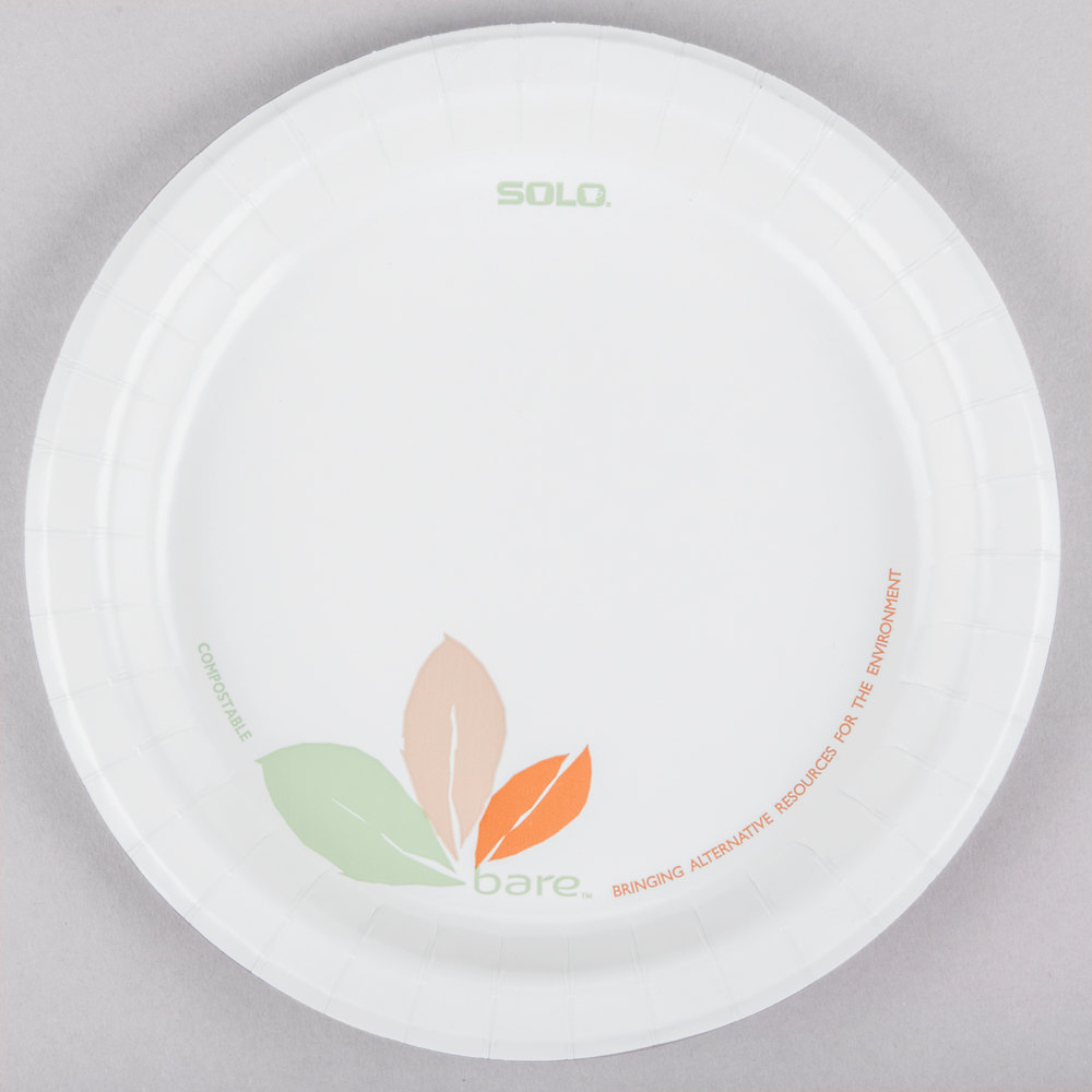 Dart Solo MP9B-J7234 Bare 8 1/2 inch Medium Weight Paper Plate ...  sc 1 st  WebstaurantStore & Solo Bare | Compostable Plates