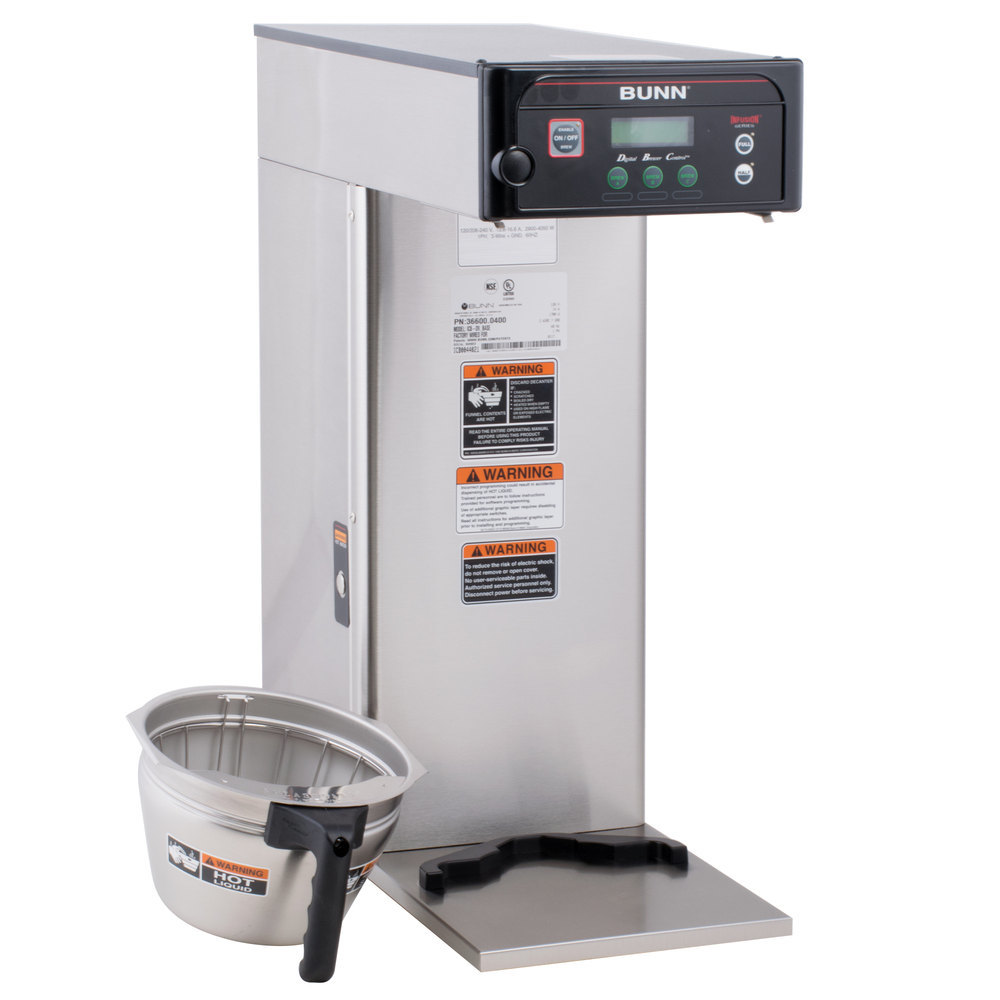 bunn coffee maker bunn 36600 0019 brewwise icb dv infusion stainless steel 31200