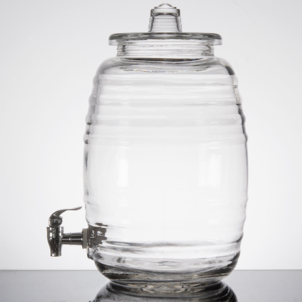 Core 2 5 Gallon Barrel Glass Beverage Dispenser