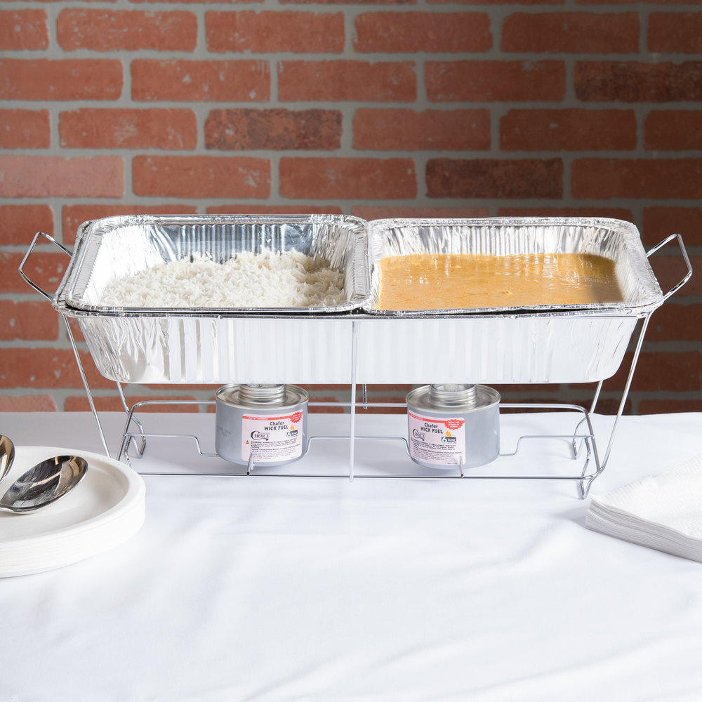 ... Image Preview ... - 18 Piece Full Size Disposable Buffet Serving Set / Chafer Dish Kit