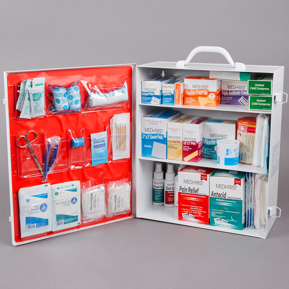 Noble Products 933 Piece 3 Shelf Class B First Aid Kit Cabinet
