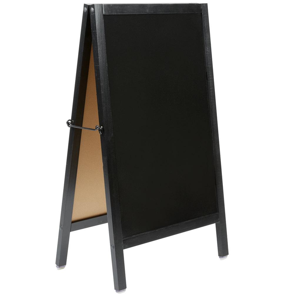 Choice A Frame Marker Board Sidewalk Sign Black Wood