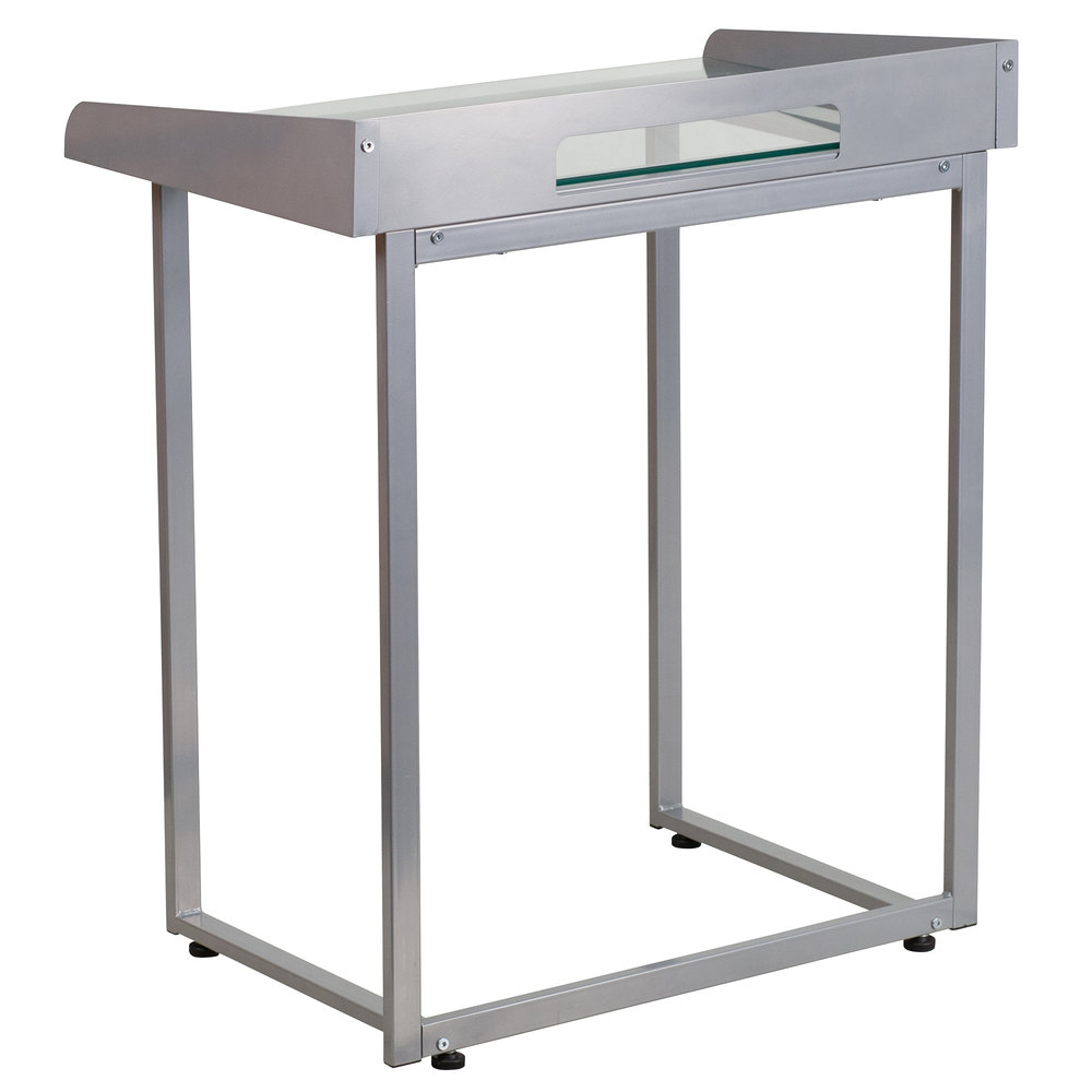 Flash Furniture Nan Ylcd1234 Gg Tempered Glass Desk With