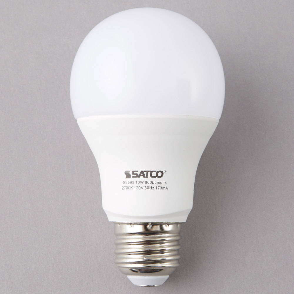 Commercial light bulbs lighting products satco s9593 10 watt 60 watt equivalent frosted warm white multi directional led arubaitofo Image collections