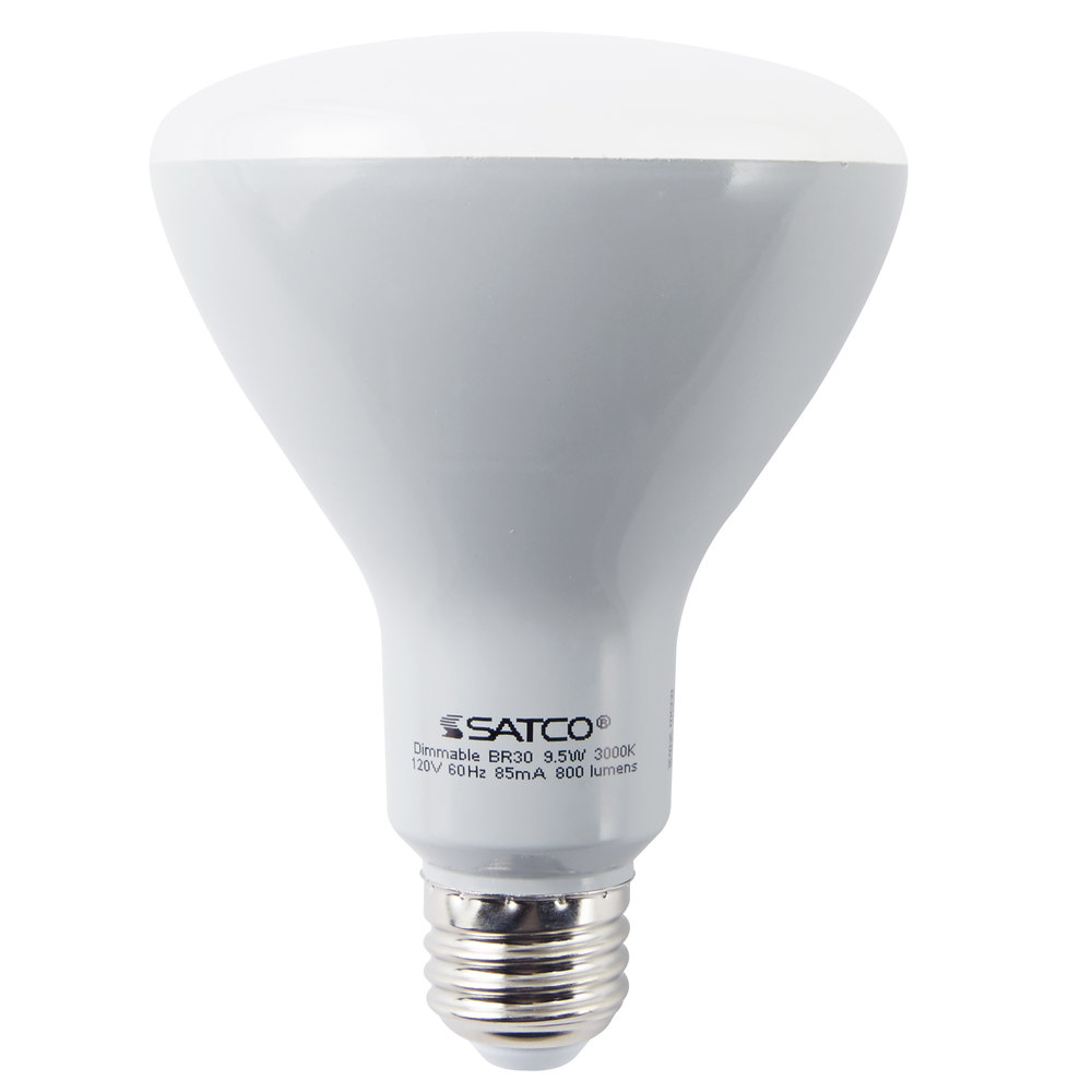 satco s9621 9 5 watt 65 watt equivalent frosted warm white led flood lamp reflector light bulb. Black Bedroom Furniture Sets. Home Design Ideas