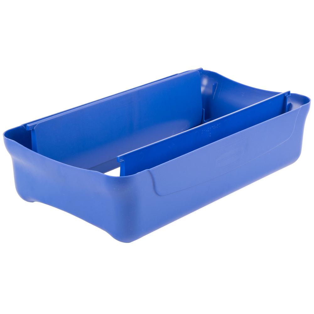 Rubbermaid Fg267360blue Slim Jim Blue Swing Trash Can Lid