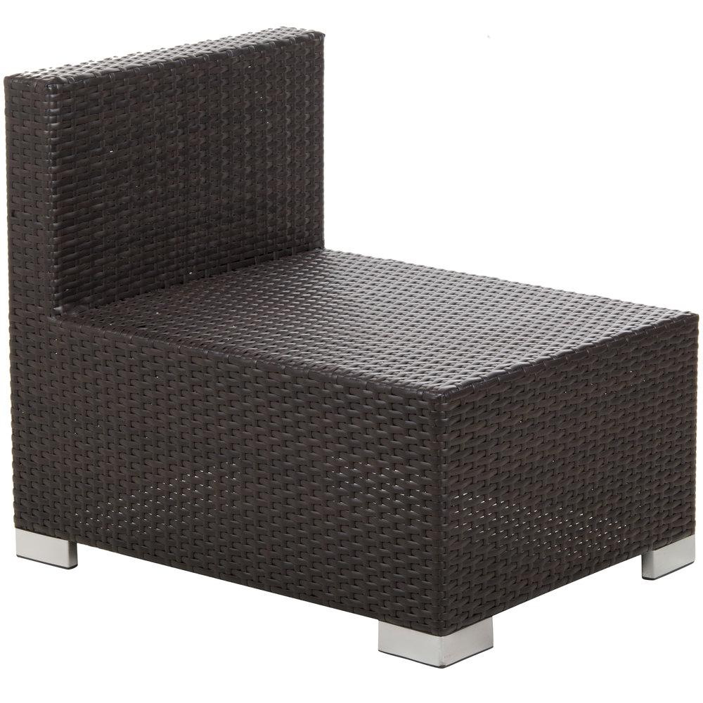 Bfm Seating Ph5101jv 54010 Aruba Java Wicker Outdoor Indoor Sofa With Rust Canvas Cushions