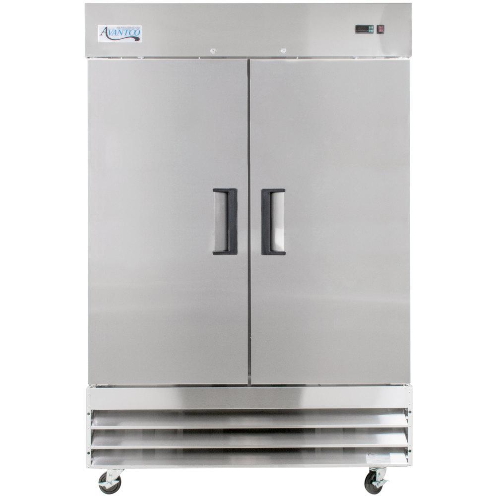 Reach In Freezers Commercial Upright Webstaurantstore Beverage Air Freezer Wiring Diagram 115 Volts Avantco A 49f Hc 54 Inch Solid Door