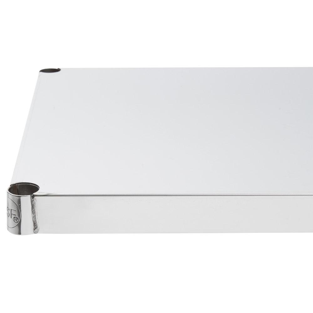 Regency 18 inch x 36 inch NSF Stainless Steel Solid Shelf