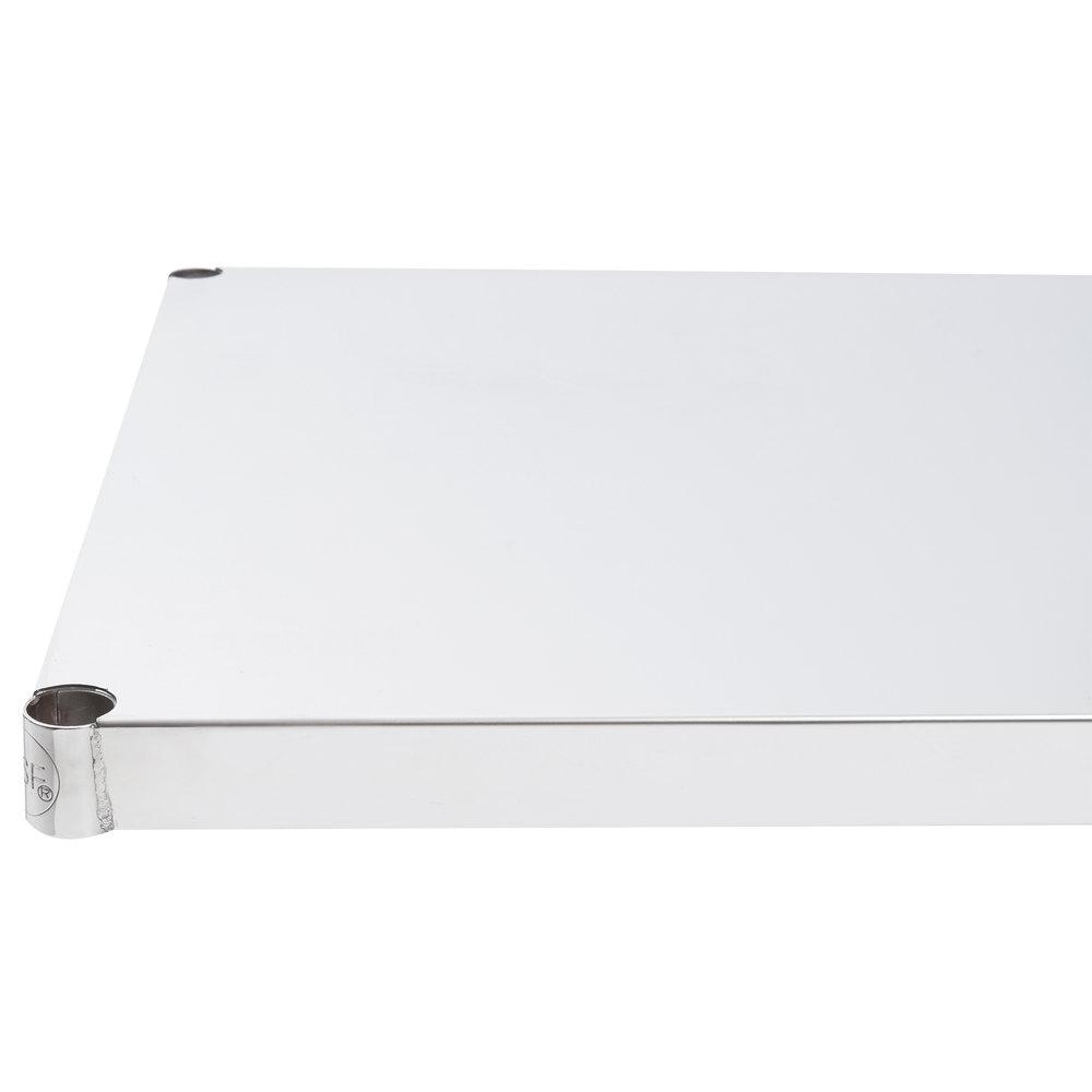 Regency 24 inch x 36 inch NSF Stainless Steel Solid Shelf