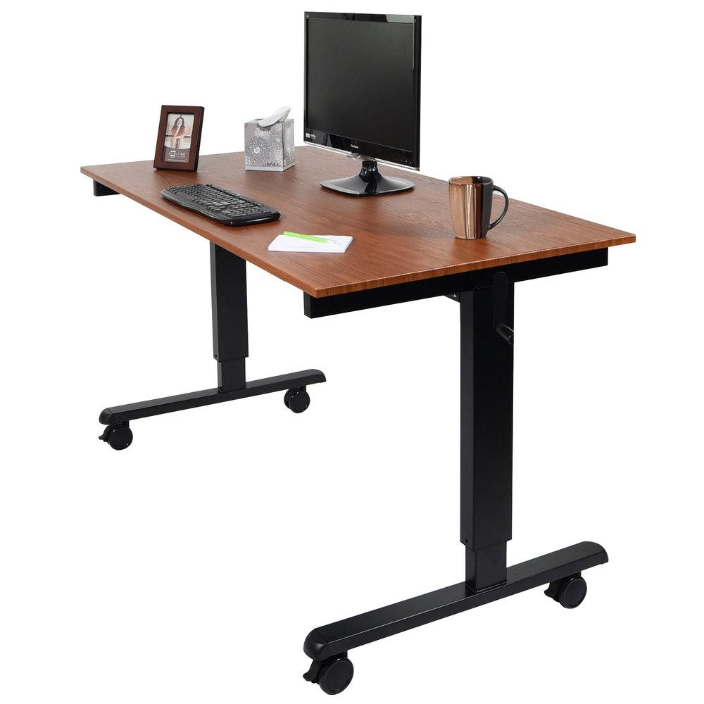 Luxor Standcf60 Bk Tk Adjustable Standing Desk With Black
