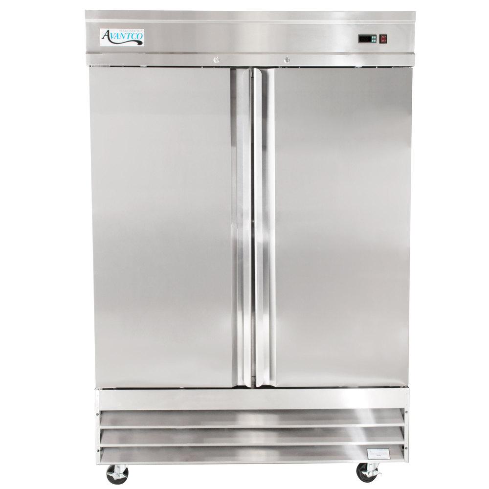 Reach In Freezers Commercial Upright Webstaurantstore True T 23 Wiring Diagram 115 Volts Avantco Ss 2f Hc 54 Inch Two Section Solid Door Freezer