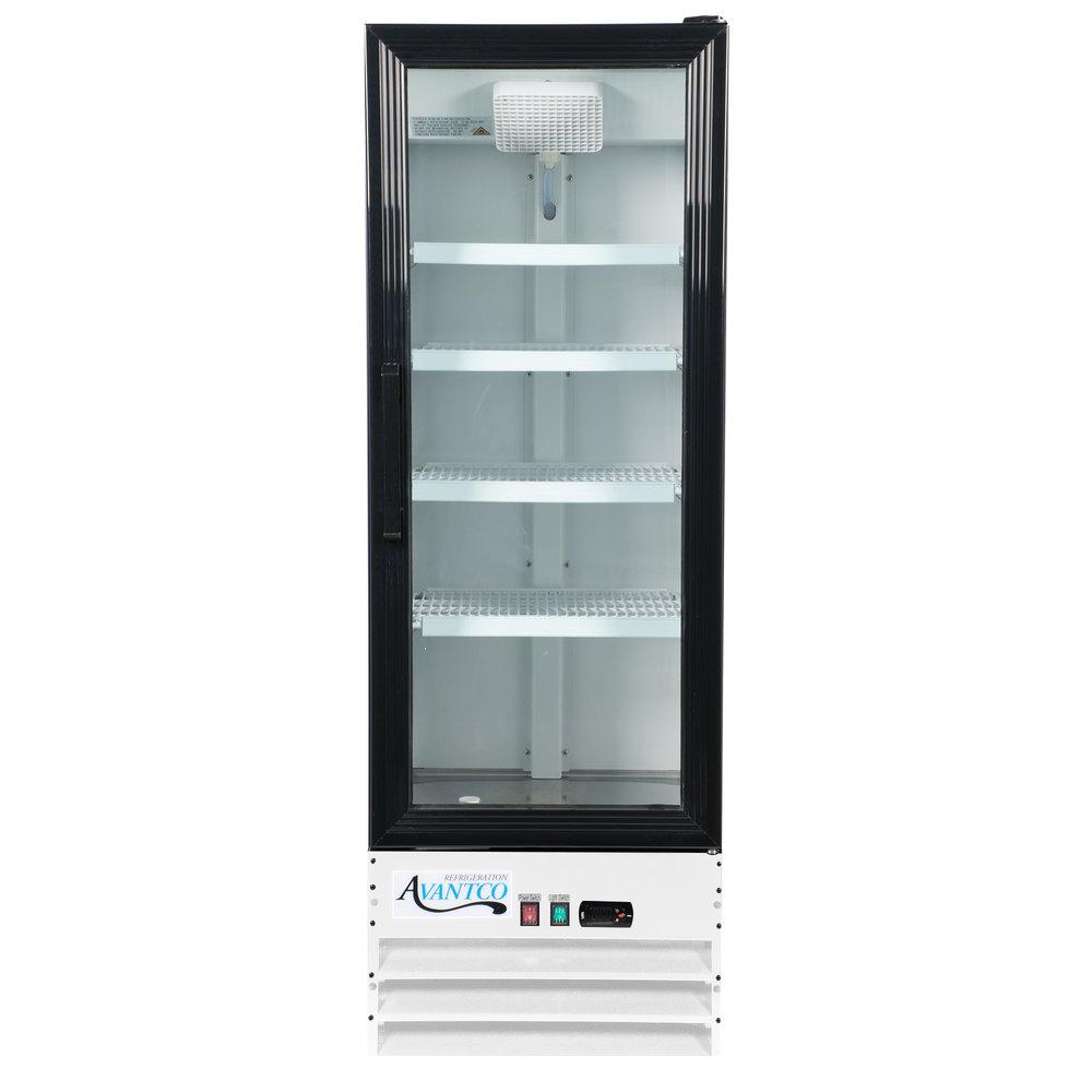 Avantco Gdc 10 Hc 21 5 8 Inch White Swing Glass Door Merchandiser
