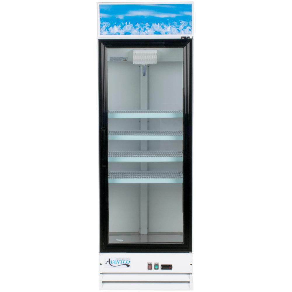 Avantco GDC 15 HC 25 5/8 Inch White Swing Glass Door Merchandiser ...
