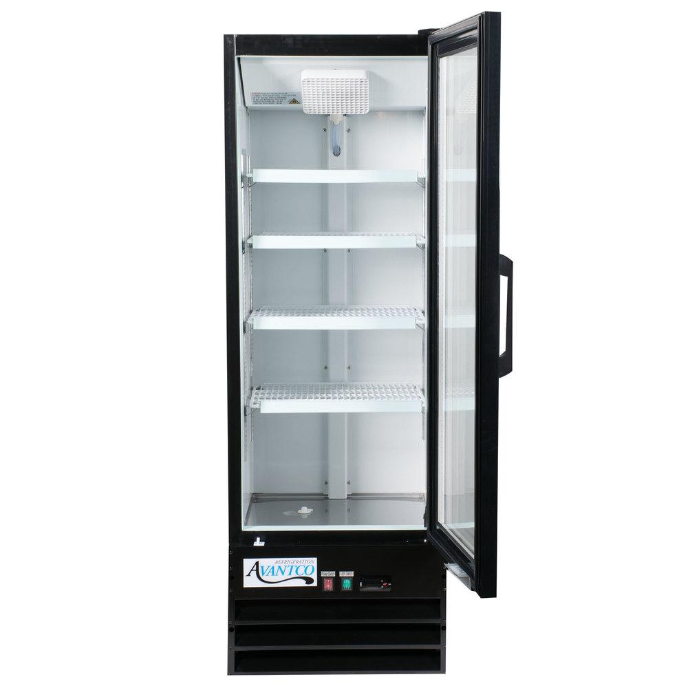 Glass Refrigerator Avantco Gdc 10 Hc 21 5 8 Black Swing Glass Door Merchandiser