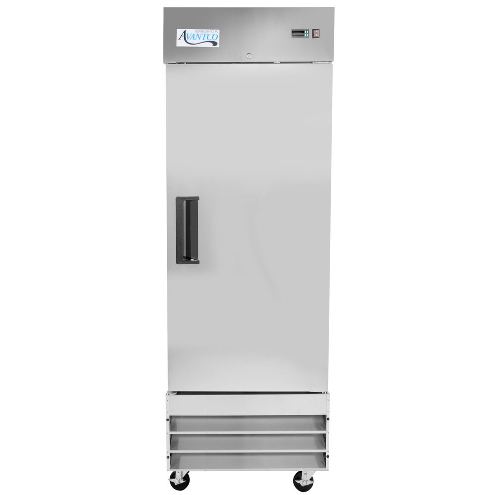 115 Volts Avantco A-23F-HC 29 inch Solid Door Reach-In Freezer
