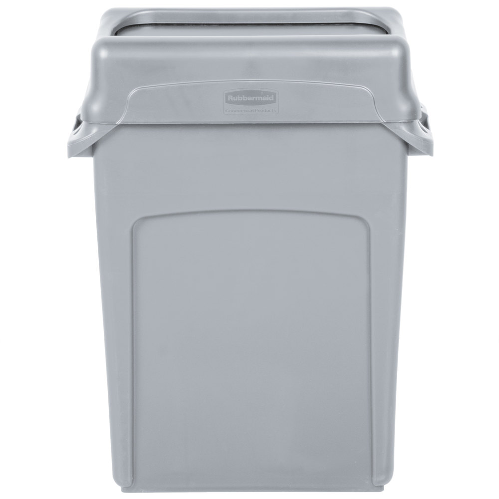 Trash Can With Gray Swing Lid Main Picture