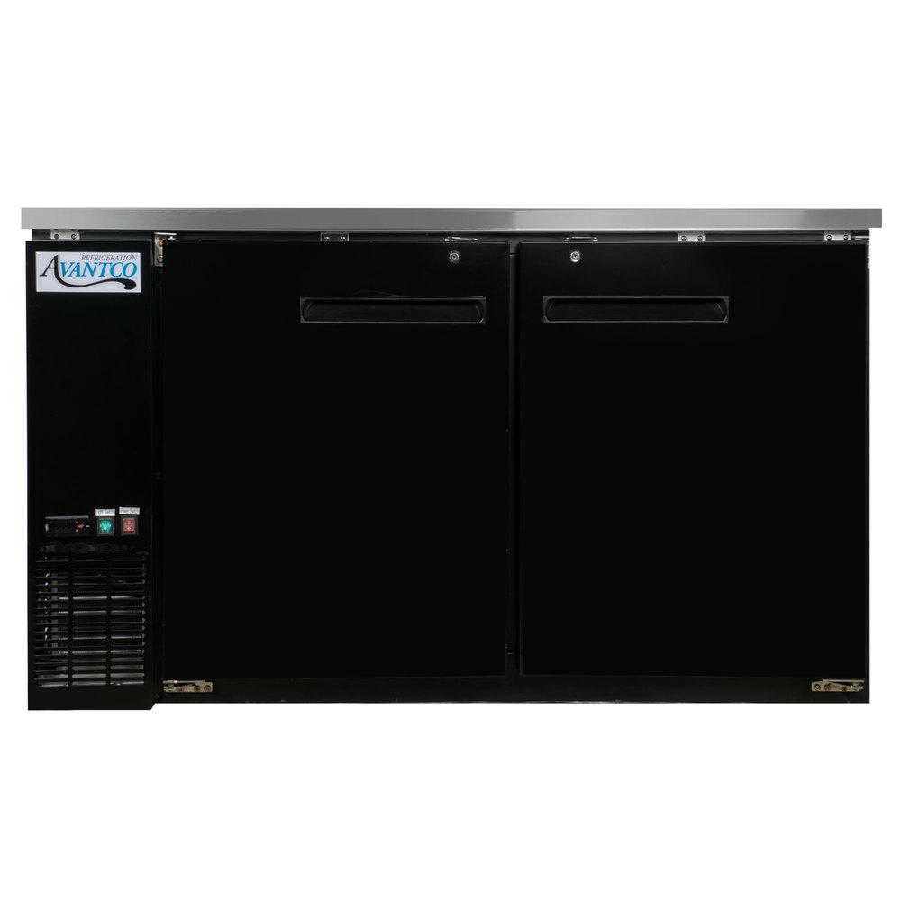 Avantco UBB-60-HC 60 inch Black Counter Height Narrow Solid Door Back Bar ...  sc 1 st  WebstaurantStore & Back Bar Cooler | Back Bar Refrigerator | Glass Door Bar Fridge