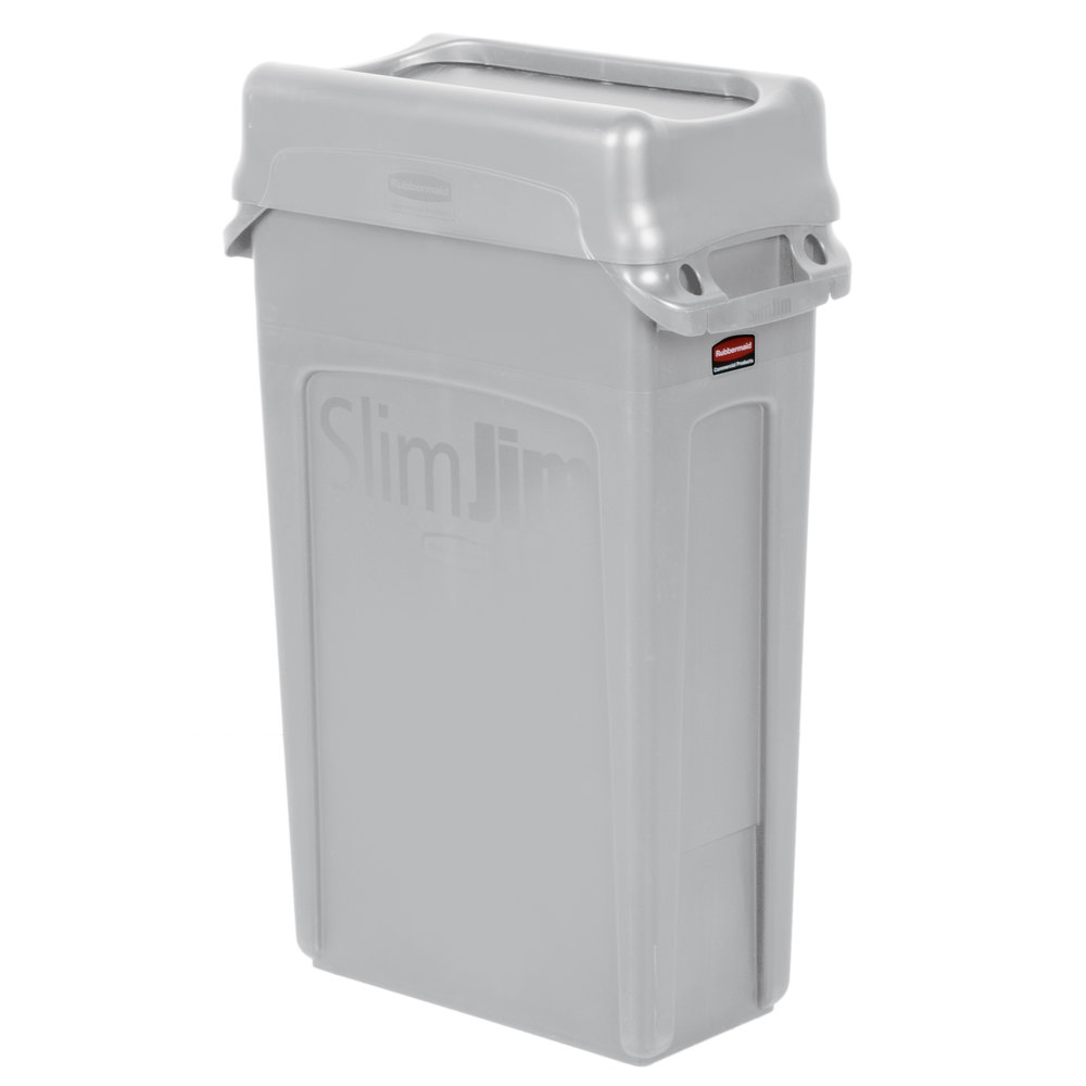 Trash Can With Gray Swing Lid Main Picture; Image Preview; Image  Preview