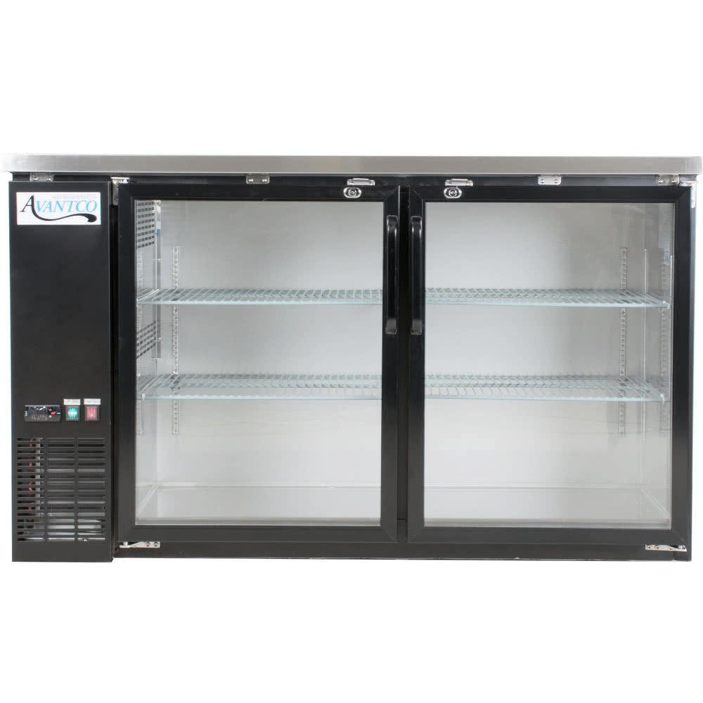 Back bar cooler back bar refrigerator glass door bar fridge 115 volts avantco ubb 60g hc 60 inch black counter height narrow glass door back bar planetlyrics Images