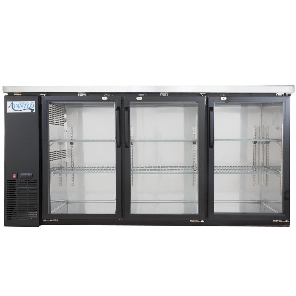 Back Bar Coolers Back Bar Refrigerators Glass Door Bar Fridges