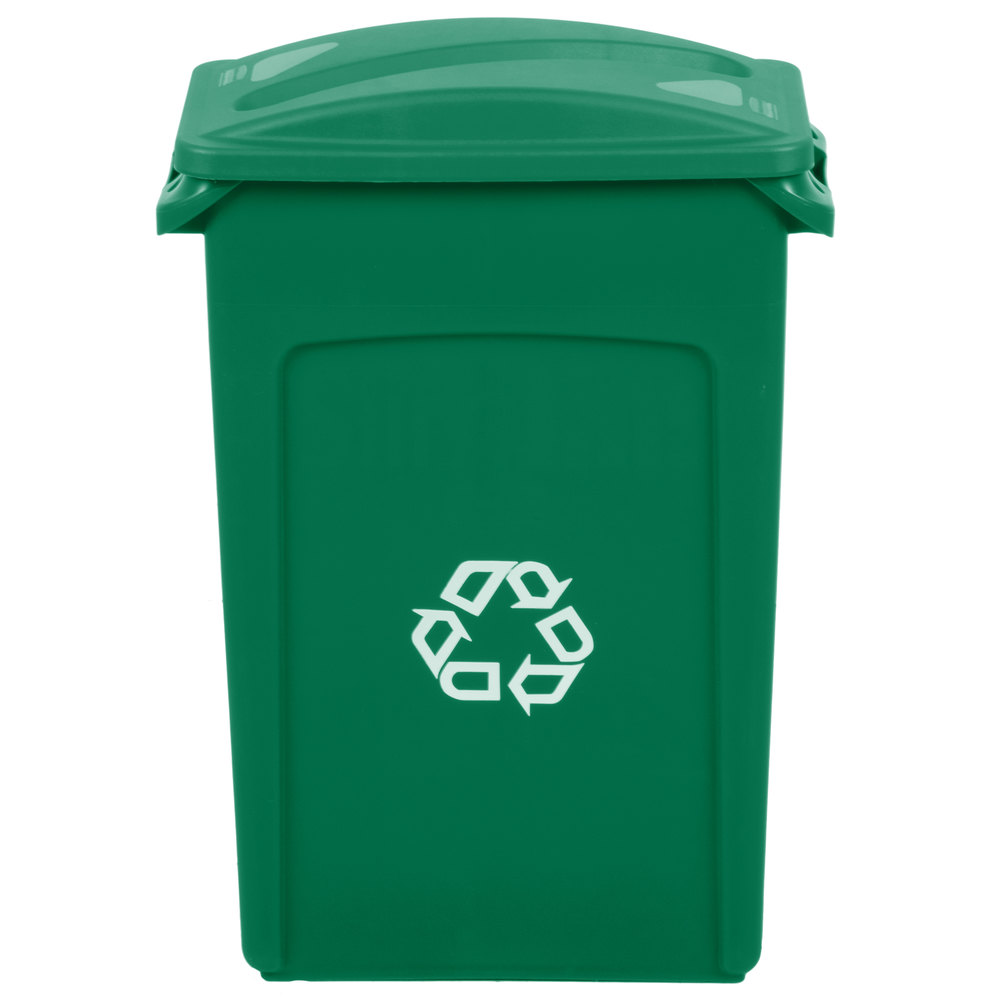Rubbermaid Slim Jim 23 Gallon Green Wall Hugger Recycling