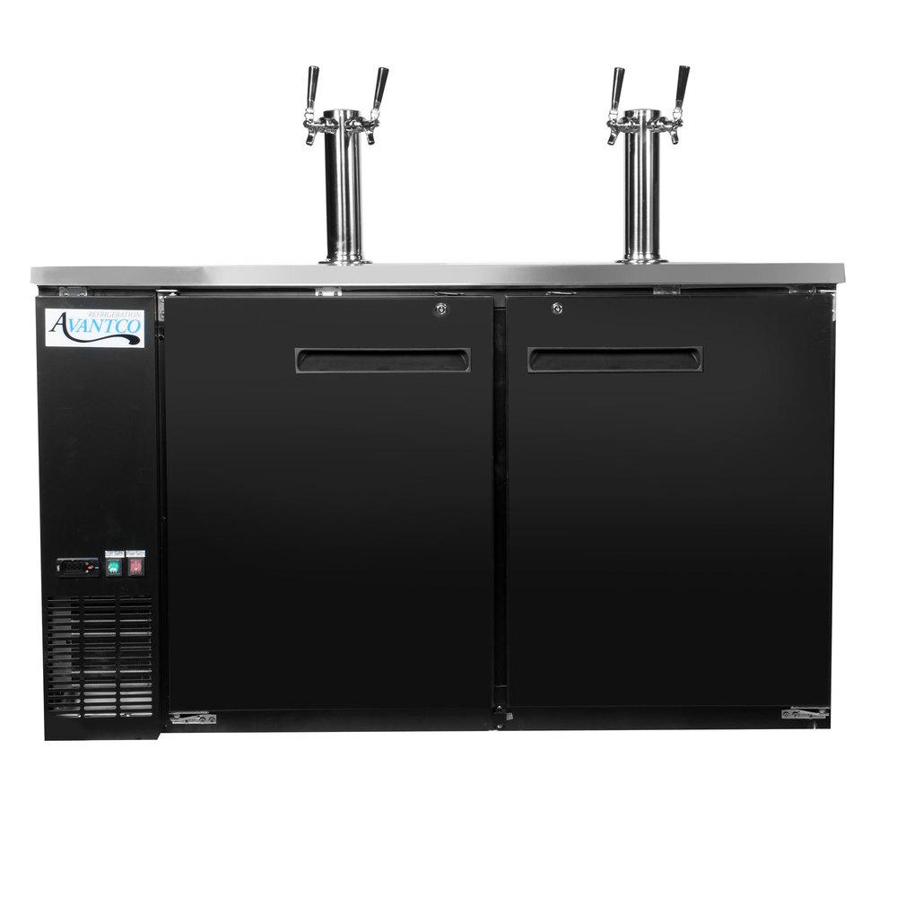 115 Volts Avantco Udd 60 Hc 2 Double Tap Kegerator Beer Dispenser Black