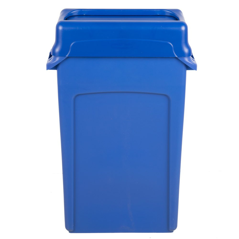 Trash Can With Blue Swing Lid Main Picture