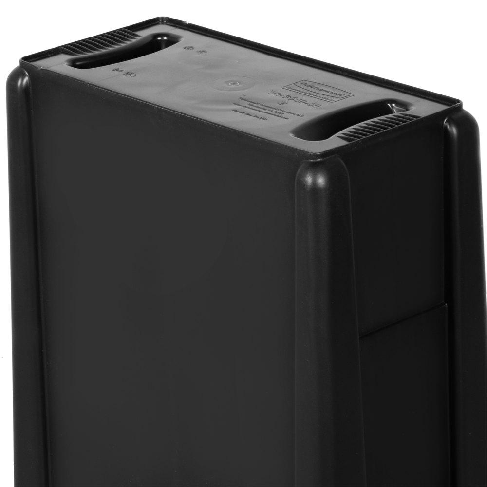 rubbermaid slim jim 23 gallon black trash can with black swing lid. Black Bedroom Furniture Sets. Home Design Ideas