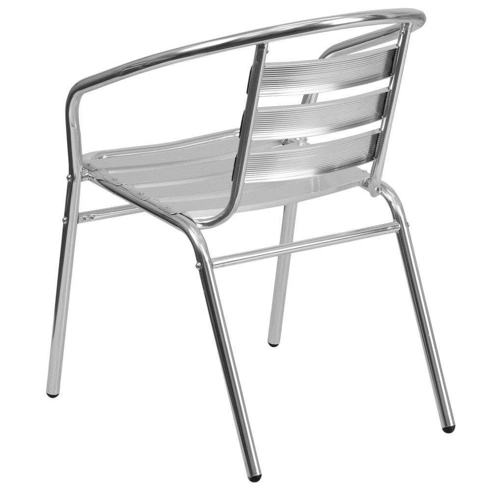 Aluminum stacking outdoor chairs -  Aluminum Stacking Outdoor Restaurant Chair With Triple Slat Back Main Picture Image Preview Image Preview
