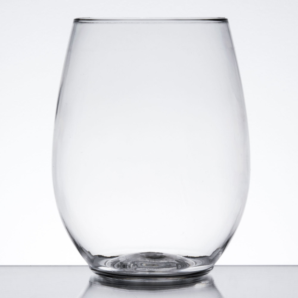 Visions 12 Oz. Clear Plastic Stemless Wine Glass   64/Case ...