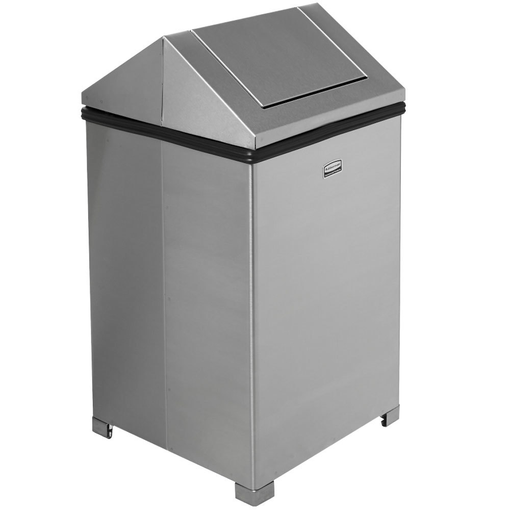 rubbermaid fgt1414sspl wastemaster stainless steel swing top 10 5 gallon trash can. Black Bedroom Furniture Sets. Home Design Ideas