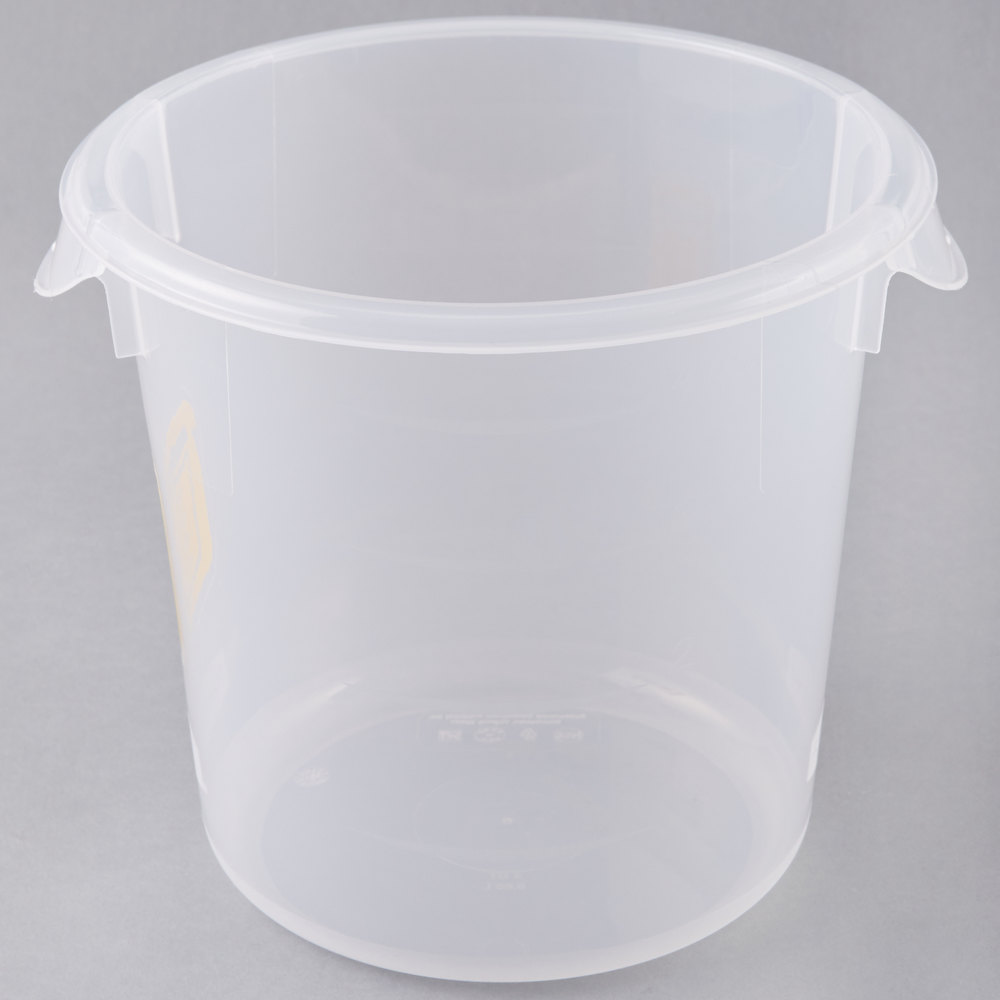 rubbermaid colorcoded translucent 4 qt round food storage container with yellow logo