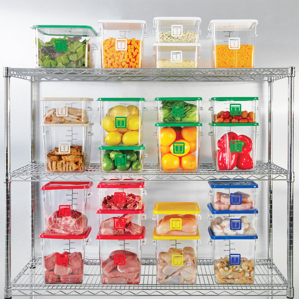 Color-coded lids for food storage containers