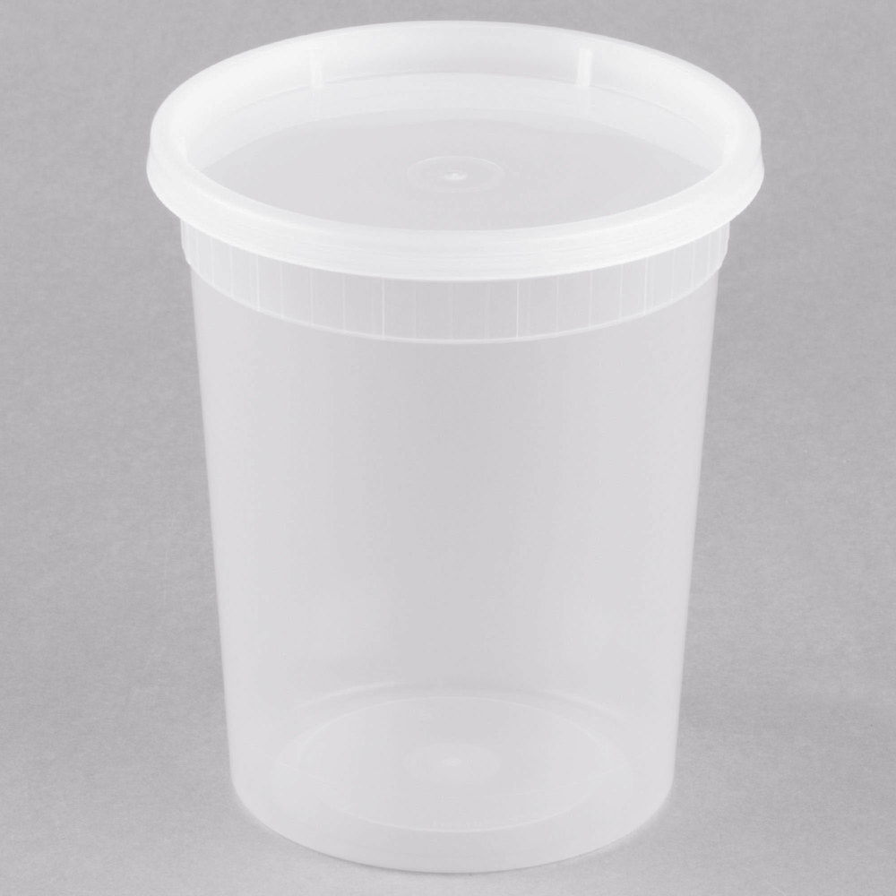 3b5721bea21 Microwavable Translucent Plastic Deli Container and Lid Combo Pack -  240 Case