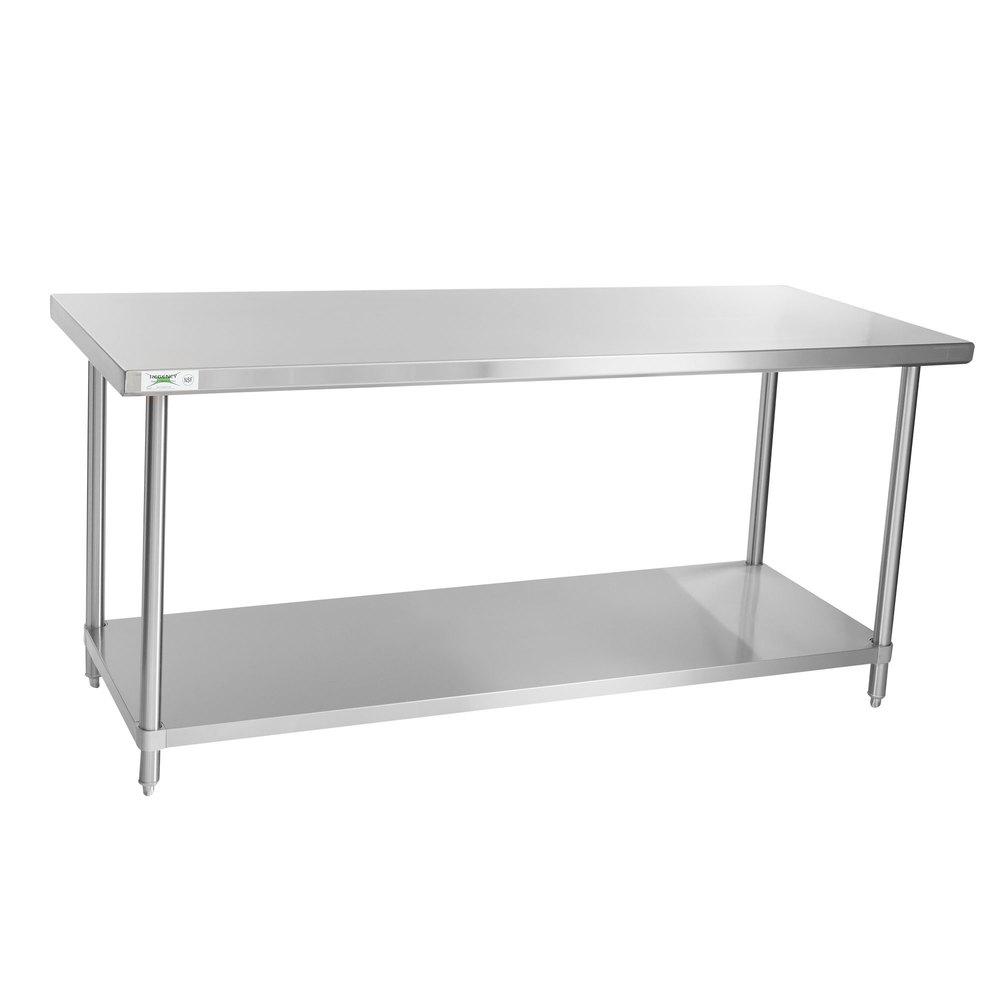 Regency Spec Line 30 inch x 72 inch 14 Gauge Stainless Steel Commercial Work Table with Undershelf
