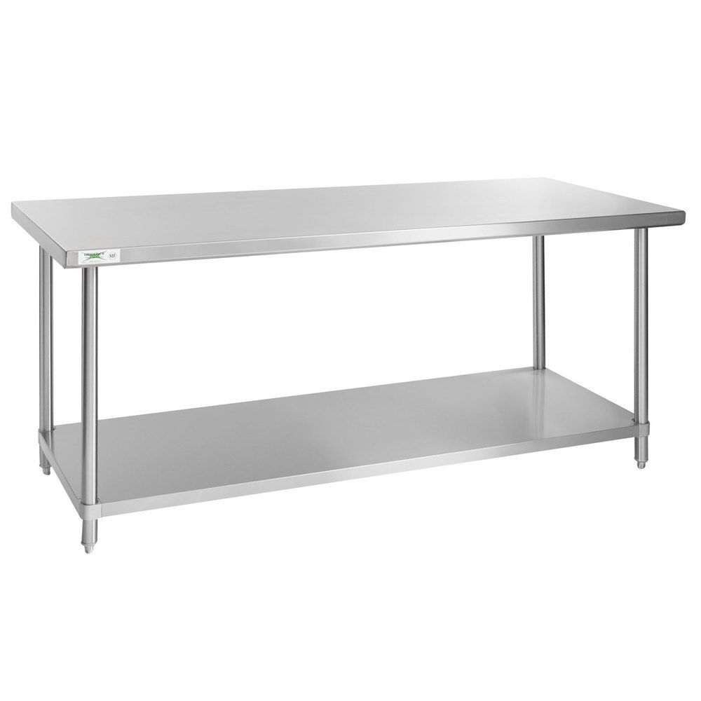 Regency Spec Line 30 inch x 72 inch 14 Gauge Stainless Steel Commercial Work Table with Undershelf