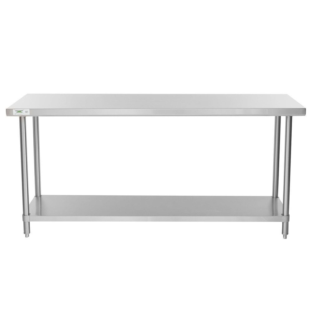 Regency Spec Line 24 inch x 72 inch 14 Gauge Stainless Steel Commercial Work Table with Undershelf