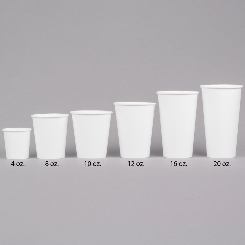 Choice 16 Oz White Poly Paper Hot Cup 1000 Case
