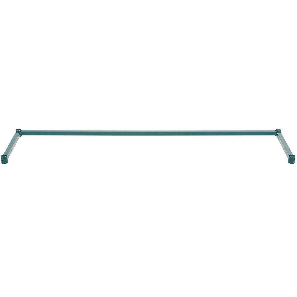 Regency 18 inch x 60 inch Green Epoxy 3-Sided Shelving Frame