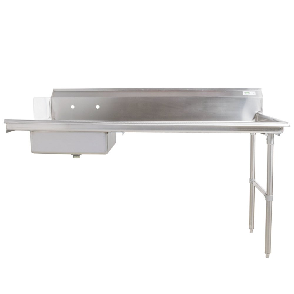 Right Drainboard Regency 16 Gauge 7' Soiled / Dirty Dish Table