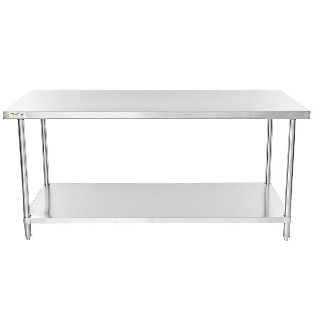 Regency 36 inch x 72 inch 16 Gauge Stainless Steel Commercial Work Table with Undershelf