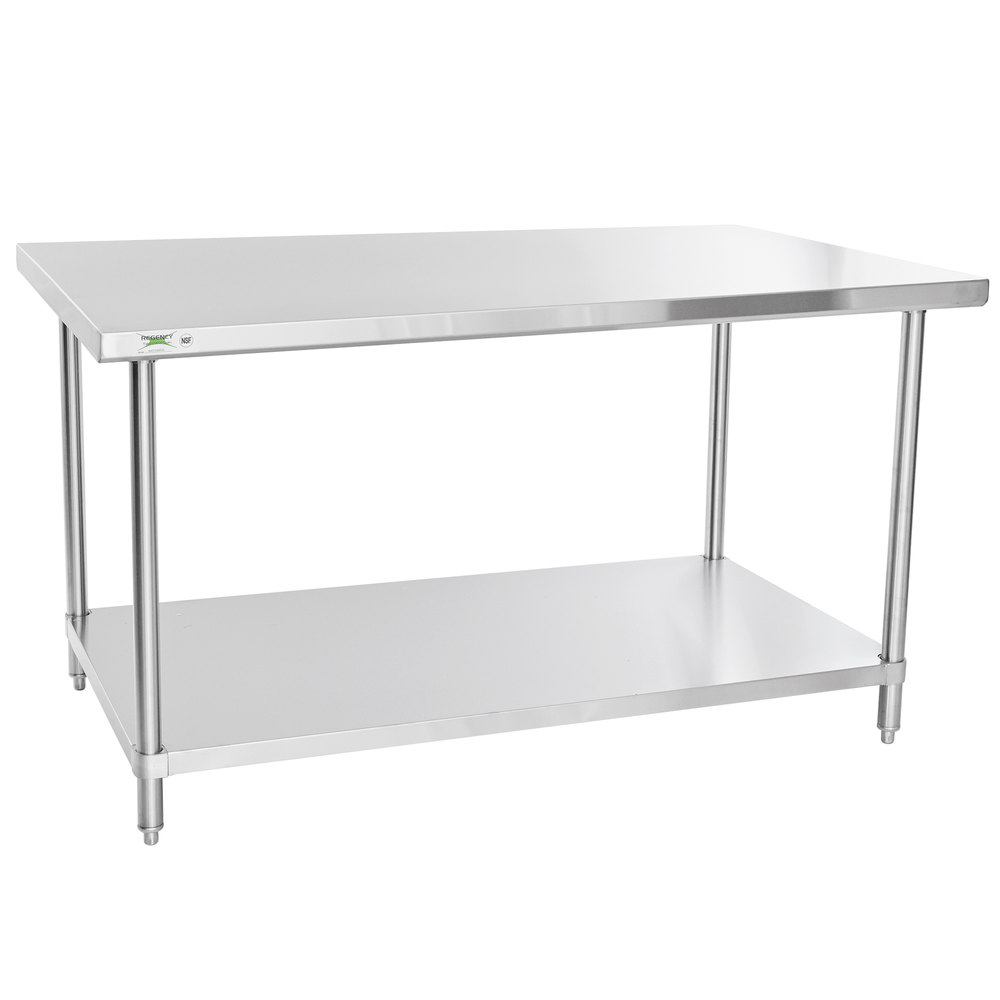 Regency 36 inch x 60 inch 16 Gauge Stainless Steel Commercial Work Table with Undershelf